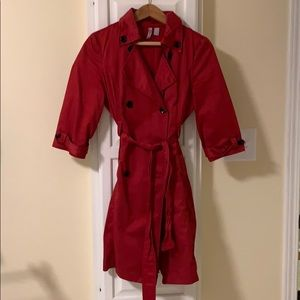 Trench Coat - Red Old Navy